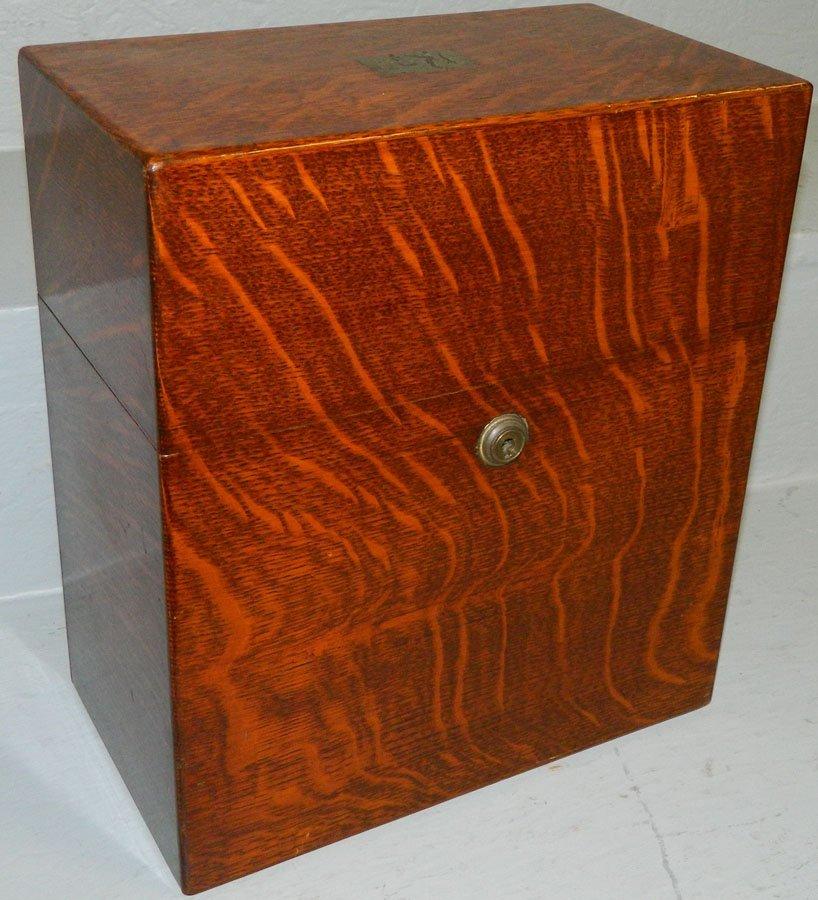 Tiger oak tantalus box - no bottles