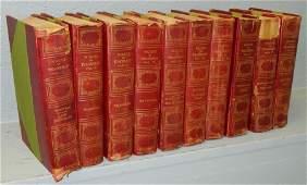 Set Thackeray14 leather bound books