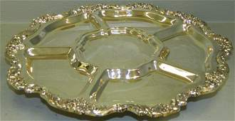 Silver lated divided tray lazy Susan