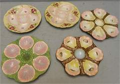 5 hand painted oyster plates various makers