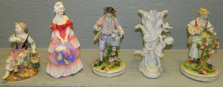 5 asst porcelain bisque figures inc. Royal Doulton