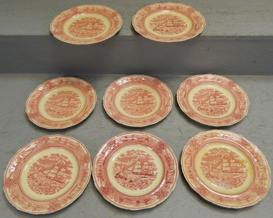 8 masons decorative nautical themed plates