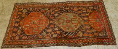 "7'7"" x 4"" antique Persian tribal rug"