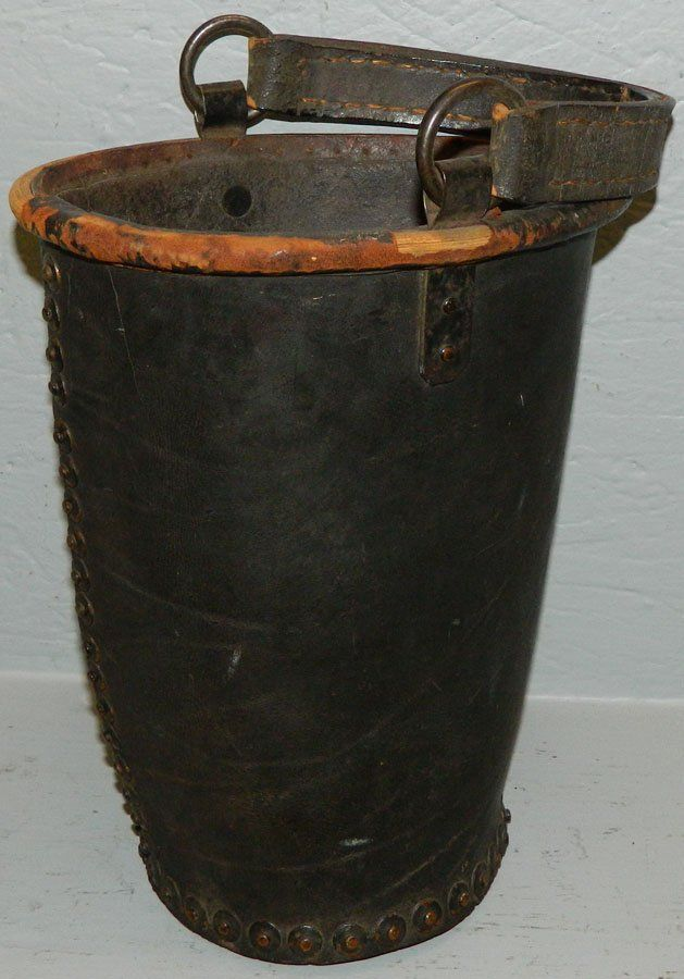 19th C. leather fire bucket