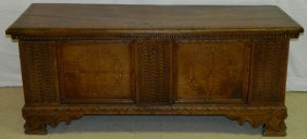 18th C. Continental Walnut Blanket Chest.