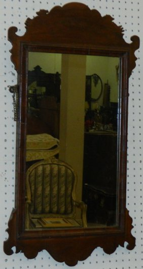 Antique Mahogany Chippendale Mirror.