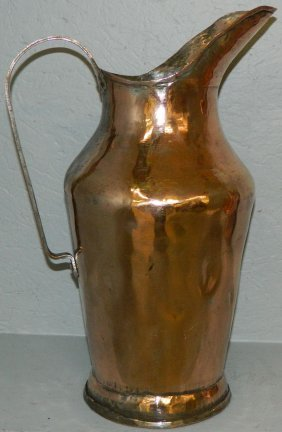 Early Copper Water Pitcher.
