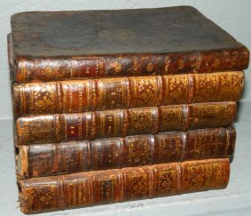 English Leather Bound Book Tantalus Carrier.