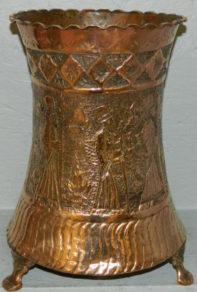 Copper Footed Jardiniere.