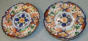 Pair Of Chinese Imari Plates