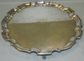 Ellis Barker Footed Salver With Inscription