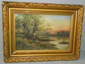"Victorian Oob Landscape,signed ""carroll""."