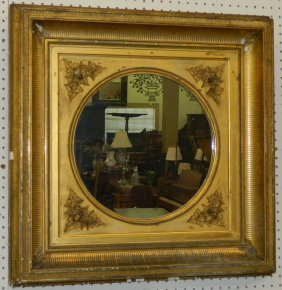 Victorian Gilt Framed Mirror.