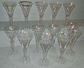 13 Air Twist Stem Champagne Glasses.