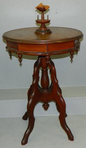 Patent Model 19th C. Walnut Sewing Stand.