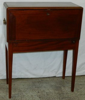Campaign Mahogany Fitted Standing Travel Desk