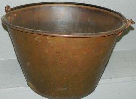 Large Brass Jelly Bucket.