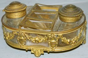 19th C. Empire French Inkwell.