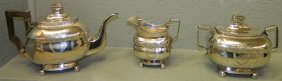 William Thompson, Ny 1810 Coin Silver Tea Set