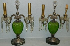 Pair Of Pairpoint Candelabra Lamps.