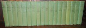 18 Volumes Of Works Of John Galsworthy.