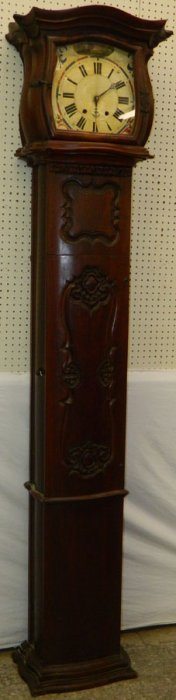 French Carved Walnut Case Gf Clock