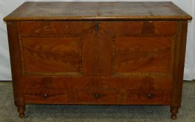 York Co Pa 19th C. Grain Painted Blanket Box.