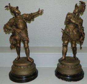 Pair Of Spelter Spanish Conquistadors.