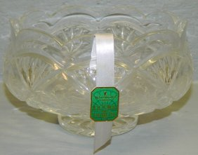 """Signed Waterford Bowl In """"door Of Dublin"""" Pattern"""