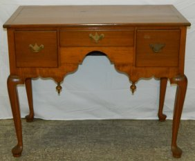 Late 18th To 19th C. Maple Queen Anne Low Boy.