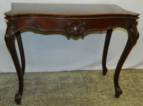 Rosewood French Fold Over Game Table.