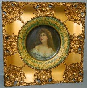Royal Vienna Framed Portrait Plate.
