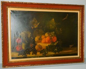 """32"""" X 44"""" Ooc Still Life With Fruit."""