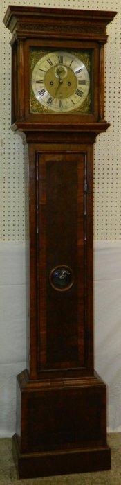 Thomas Carter, Auckland Burl Wal Tall Case Clock.