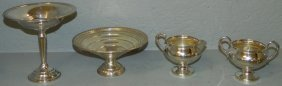 Weighted Sterling Compotes, Cream And Sugar.