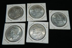 Lot Of 5 Morgan Silver Dollars