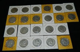 22 Franklin Half Dollars