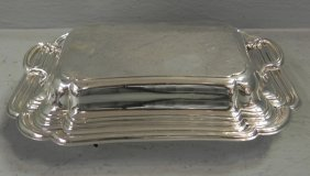 Silver Plate Covered Dish With Tray.