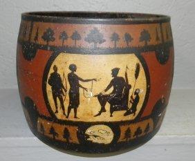 Paint Decorated Iron Pot.