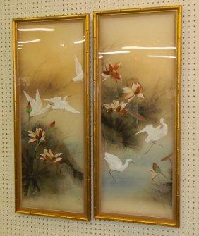 2 Oriental Framed Watercolors.