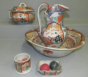 19th C. Japanese Washstand Set