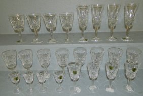 """24 Waterford Stems In """"lismore"""" Pattern"""
