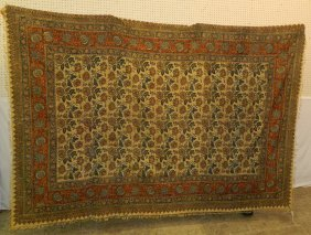 Continental Silk 19th C. Floral Tapestry/ Textile.