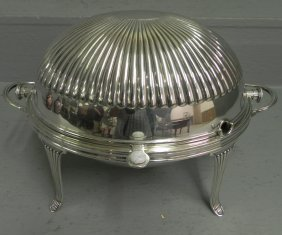 Silver Plate Bun Warmer By Atkins Brothers