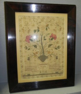 Needlework For Isabella Ines Smith Dated 1835