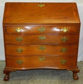 19th C. Cherry Am New England Slant Front Desk.