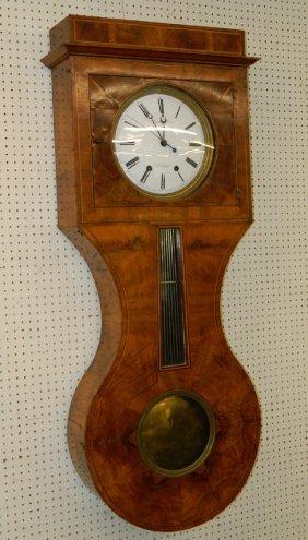 Chassing Reg. Etienne Pollard Burl Walnut Clock.