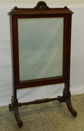 Mahogany Victorian 3 Section Fire Screen.