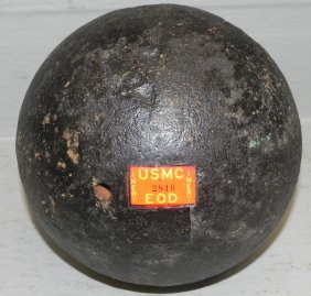 Large Heavy Iron Cannonball.