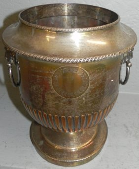 Silver Plate Wine Cooler.